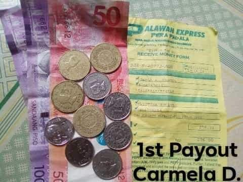 Cashy First Payout