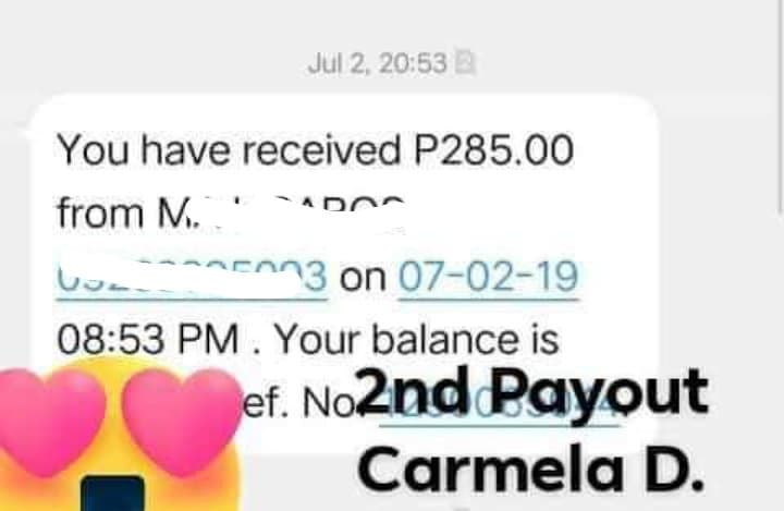 Cashy Second Payout