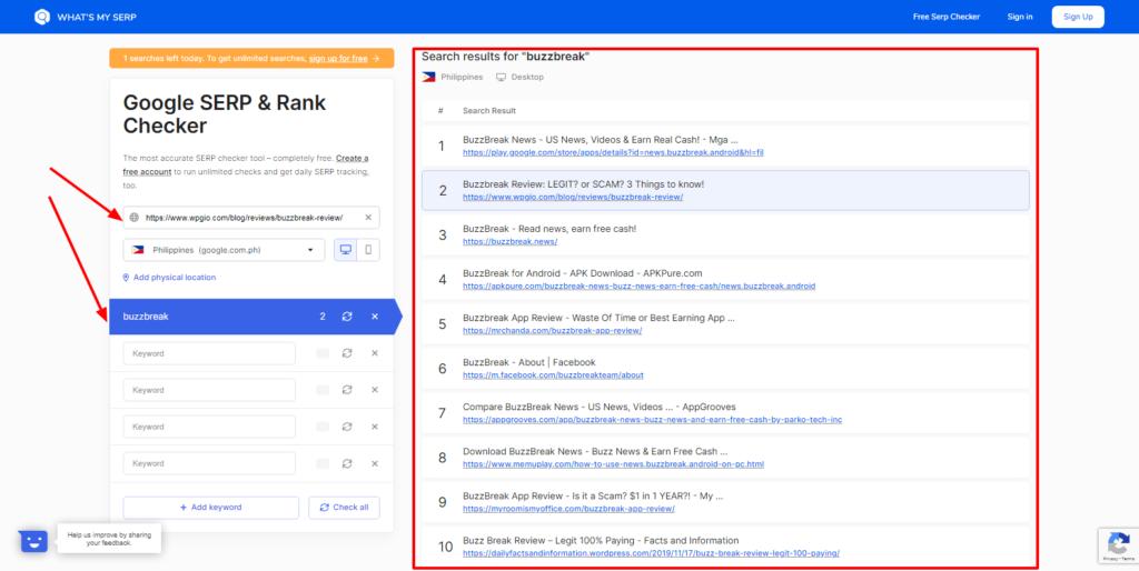 google search rank tracking tool