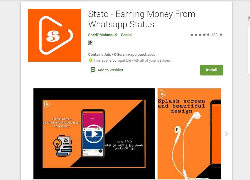 Stato - Earning Money From Whatsapp Status Review