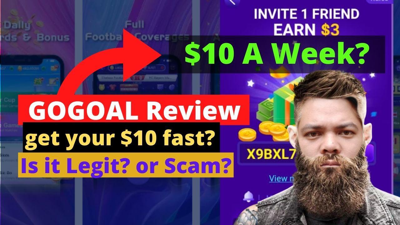 GoGoal App Review – Legit or Scam? $10 in Paypal