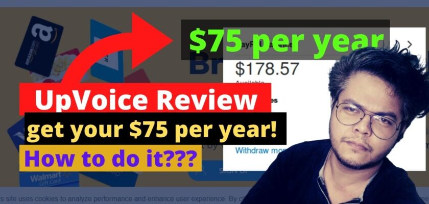 UpVoice Review - get your $75 per year! 1