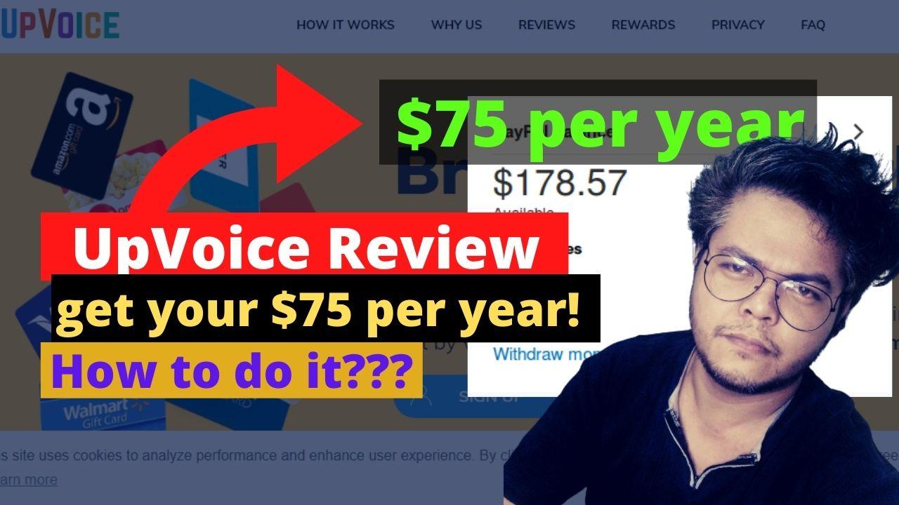 UpVoice Review – $75 per year? Legit or Scam?