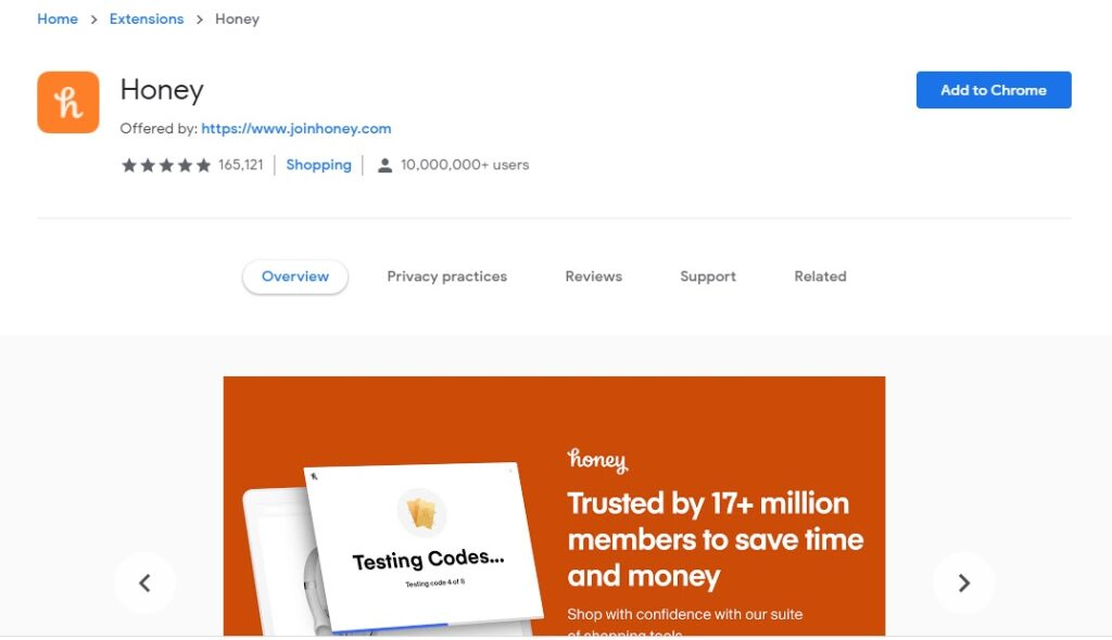 honey app reviews chrome extension