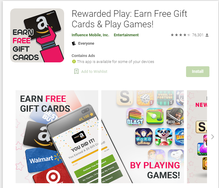 Rewarded Play review