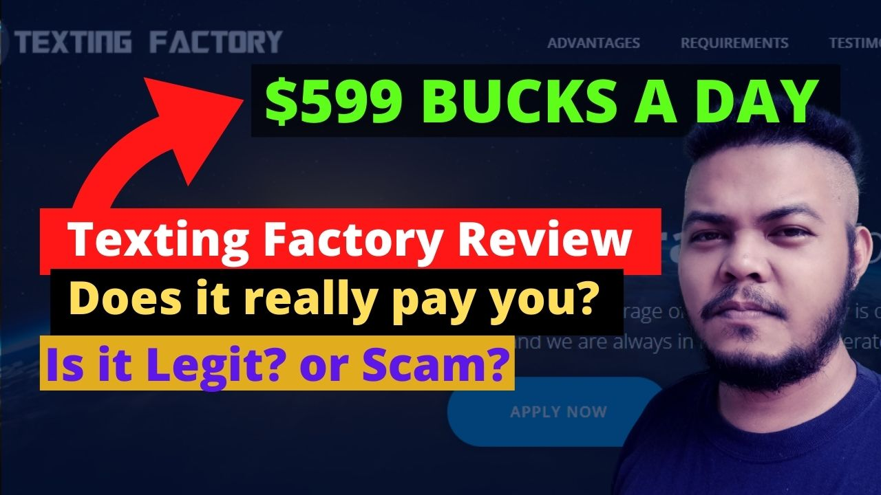 Texting Factory Review: $599 Weekly? Is it Legit or a Scam?