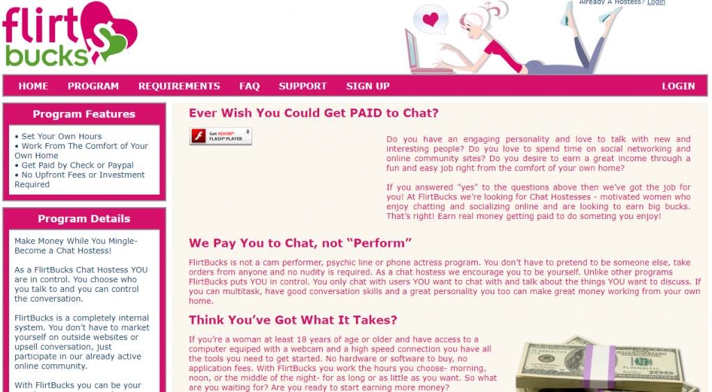 Get Paid to Chat - Flirtbucks Review